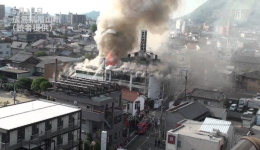 広島県福山市でホテル火災