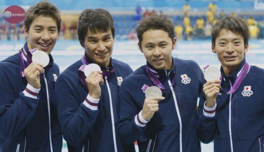 日本男子が銀  400mメドレーリレー