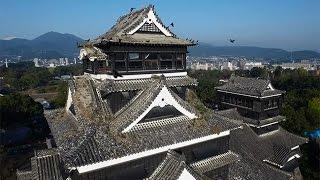 被災した熊本城の現在=ドローンで撮影