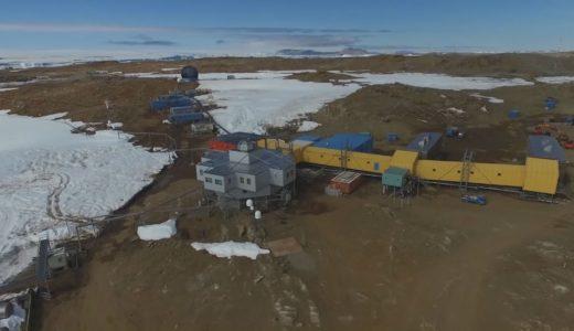 昭和基地、創設60年 日本の南極観測の拠点-ドローン撮影