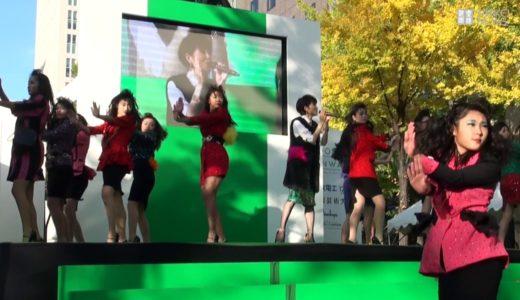 登美丘高校、御堂筋で荻野目洋子とバブリーダンス披露