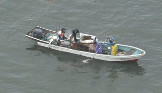 漁船が有明海でごみの回収 九州大雨から1週間