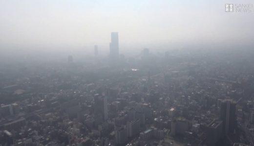 大阪市内で霧