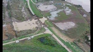 台風19号で決壊した堤防のドローン映像