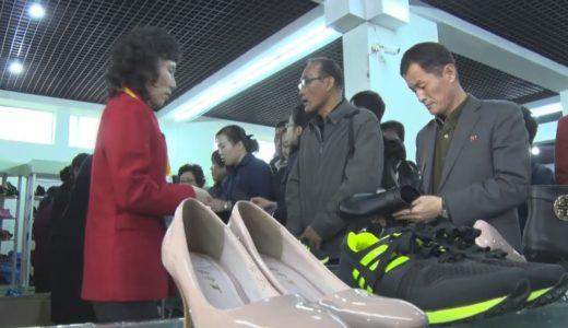 平壌で靴の展示会 多様な種類が出品
