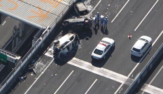 車7台が事故、15人負傷 愛知・弥富の伊勢湾岸道