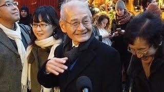 吉野さん、家族とつかの間の観光