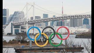 巨大シンボル、海に設置 五輪開幕へ準備進む―東京都