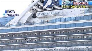 「陰性」のクルーズ船乗客、きょうも約500人下船へ(20/02/20)