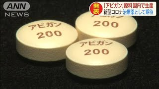 アビガンの原料を国内生産へ コロナ治療薬に期待(20/04/03)