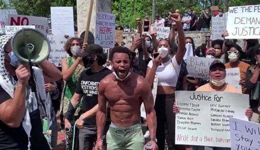 黒人死亡の抗議活動全米で広がる