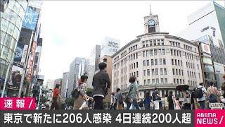 東京都の新たな感染者206人 4日連続で200人超える(20/07/12)