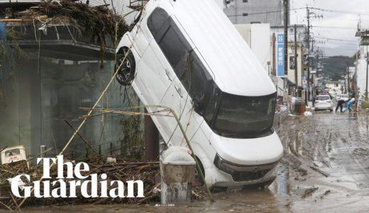 Flooding and landslides in Japan leaves scores dead on Kyushu