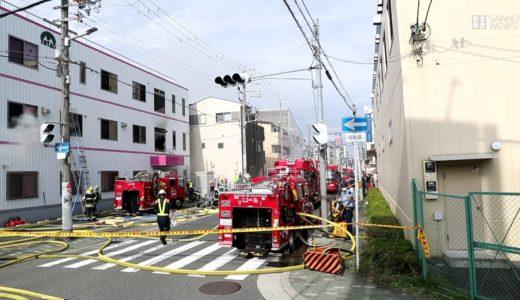 大阪・御幣島で工場火災