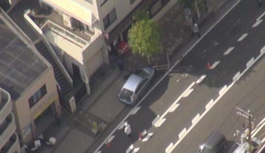 街路樹に車衝突、数人けが 歩道乗り上げ、横浜
