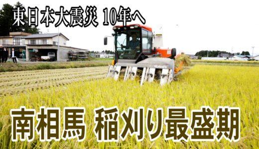 【東日本大震災10年へ】南相馬、稲刈り最盛期 東京のファンも作業手伝い