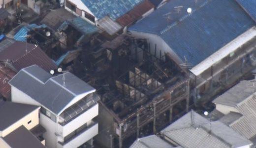 アパート火災、1人死亡 大阪府八尾市、3人けが