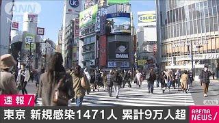 東京できょう1471人 新たな新型コロナ感染者(2021年1月21日)
