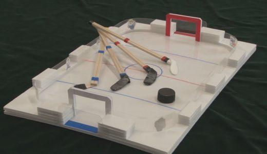 りんぺい先生の作って遊んでサイエンス アイスホッケーゲーム
