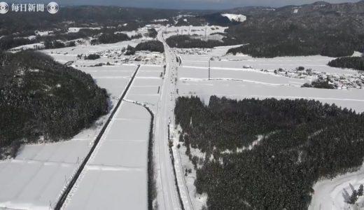北陸大雪 北陸道の立ち往生3カ所で解消、依然58台残る