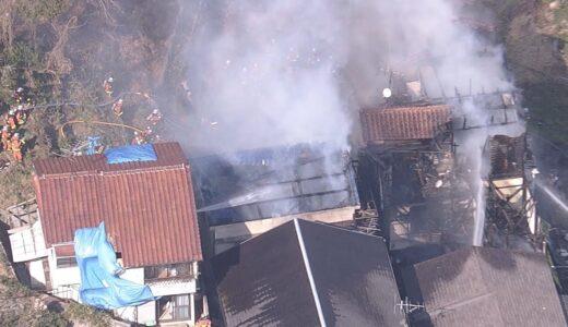 共同住宅など3棟全焼 周辺に延焼も 神戸市須磨区